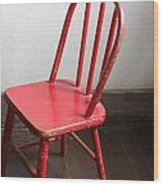 Amish Red Chair Wood Print
