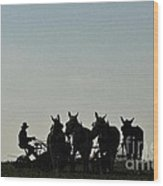 Amish Silhouette  Wood Print
