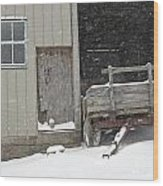 Amish Snowfall Wood Print