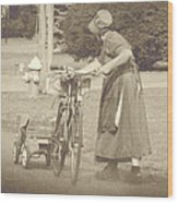 Amish Times Wood Print