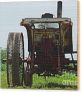 Amish Tractor Wood Print