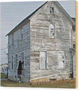 Amish Window Washer Wood Print
