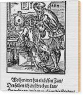 Amman: Dentist, 1568 Wood Print