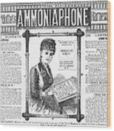 Ammoniaphone, 1885 Wood Print