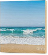 Amnissos Beach Wood Print