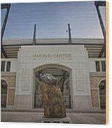 Amon G Carter Stadium At Tcu Wood Print