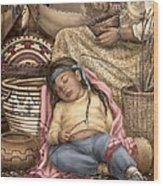 Among Mother's Baskets Wood Print
