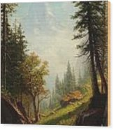 Among The Bernese Alps Wood Print