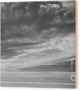Among The Clouds II Wood Print