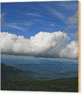 Among Clouds  Wood Print