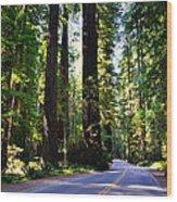 Among The Giants Wood Print