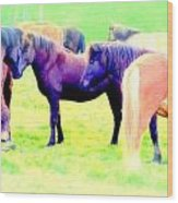 A Horse Most Of All Wanna Be One Among The Other Horses Wood Print