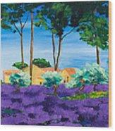 Among The Lavender Wood Print