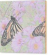Among The Flowers  Wood Print