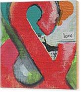 Ampersand Love Wood Print