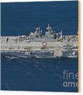 Amphibious Assault Ship Uss Bonhomme Wood Print