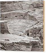 Amphitheater In Petra Wood Print