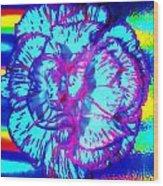 Amplified Flower Wood Print