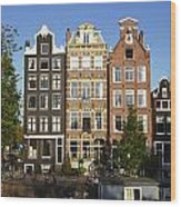 Amsterdam - Old Houses At The Herengracht Wood Print
