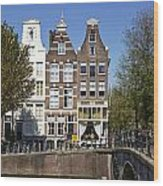 Amsterdam - Old Houses At The Keizersgracht Wood Print