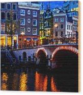 Amsterdam At Night II Wood Print