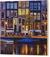 Amsterdam At Night IIi Wood Print