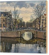 Amsterdam Bridges Wood Print