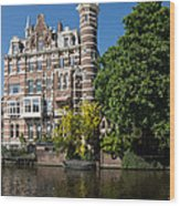 Amsterdam Canal Mansions - The Dainty Tower Wood Print