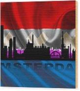 Amsterdam City Wood Print