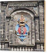Amsterdam Coat Of Arms On Westerkerk Tower Wood Print