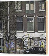 Amsterdam Graffiti Wood Print