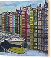 Amsterdam Holland Wood Print