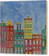 Amsterdam Houses Wood Print by Shruti Prasad