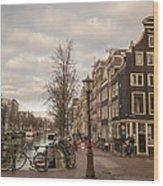 Amsterdam In A Nutshell Wood Print