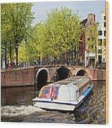 Amsterdam In Spring Wood Print