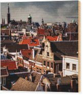 Amsterdam Roofs. View From Metz Cafe Wood Print