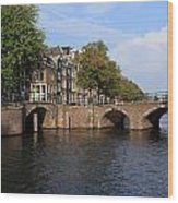Amsterdam Stone Arch Bridge Wood Print