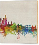 Amsterdam The Netherlands Skyline Wood Print by Michael Tompsett