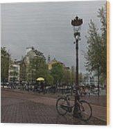 Amsterdam - The Yellow Umbrella Wood Print