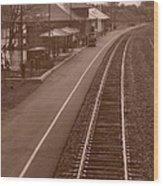 Amtrak Departure Wood Print