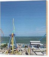 Amusement Park View Wood Print