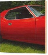 Amx Muscle Car Wood Print