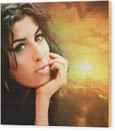 Amy Winehouse Wood Print by Anthony Caruso