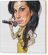 Amy Winehouse Wood Print by Art