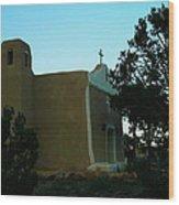 An Adobe Church In New Mexico Wood Print