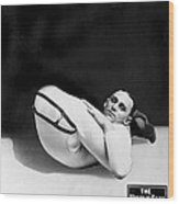 An Advertising Contortionist Wood Print