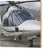 An Agustawestland A109 Power Elite Wood Print