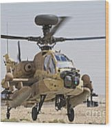 An Ah-64d Saraf Attack Helicopter Wood Print