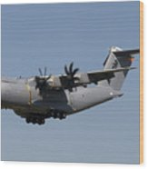 An Airbus Military A400m In Flight Wood Print