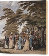 An Airing In Hyde Park, 1796 Wood Print